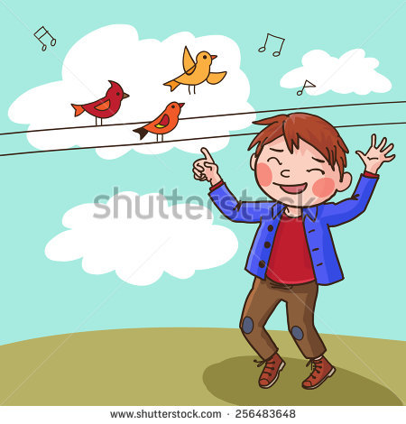 3 clipart object. Boy pointing an station