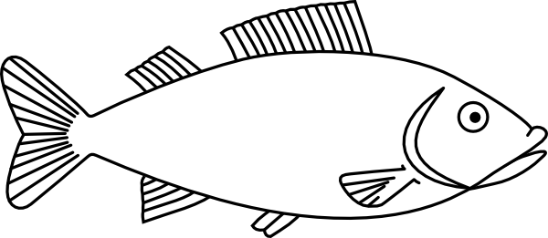 3 clipart outline. Fish easy long drawings