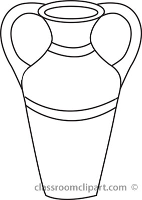 3 clipart outline. Egyptian vase jpg panda