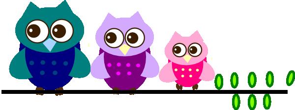 Family of clip art. 3 clipart owl