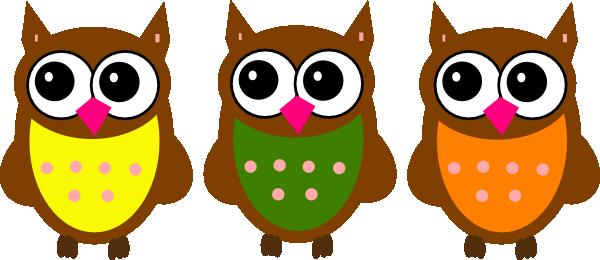Three owls . 3 clipart owl
