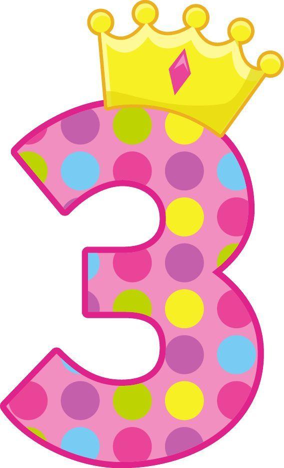 3 clipart pink number 3.  jaar para la