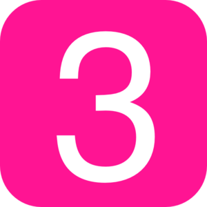 3 clipart pink number 3