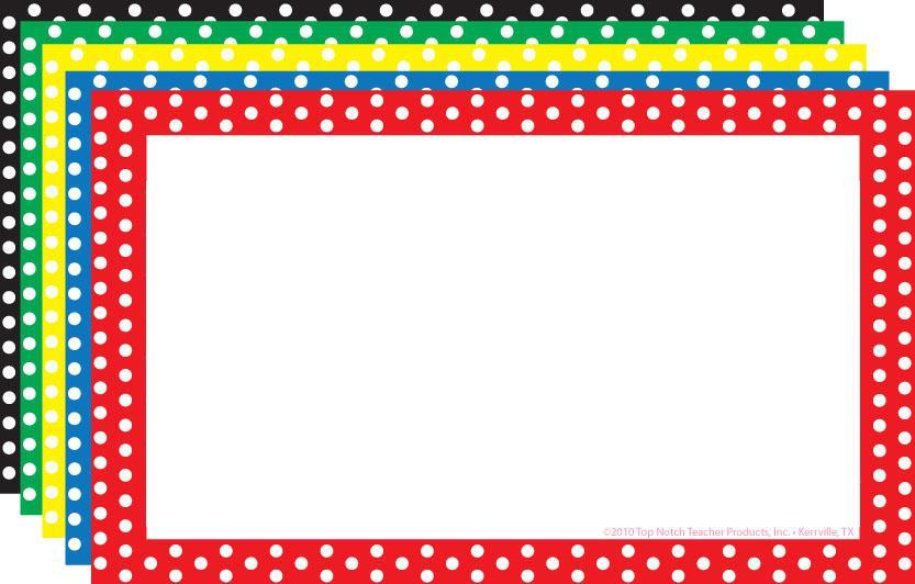 Red border clip art. 3 clipart polka dot
