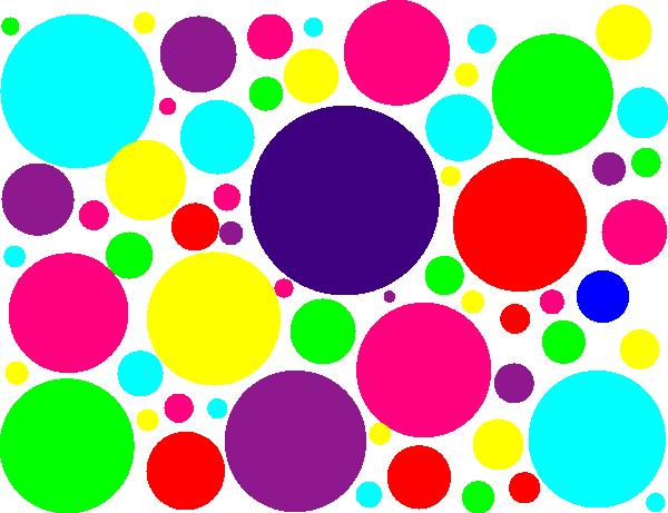 3 clipart polka dot. Multi colored dots clip
