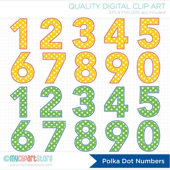 Alphabet numbers and bunting. 3 clipart polka dot