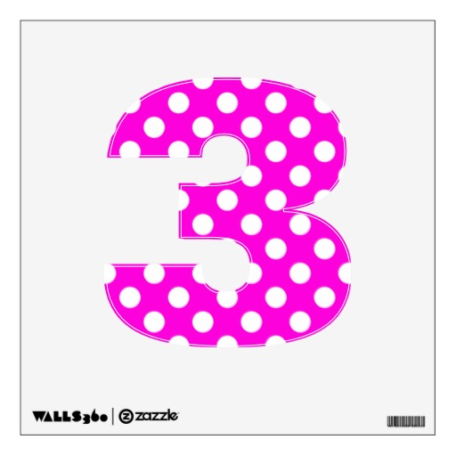 Free numbers clipartmansion com. 3 clipart polka dot