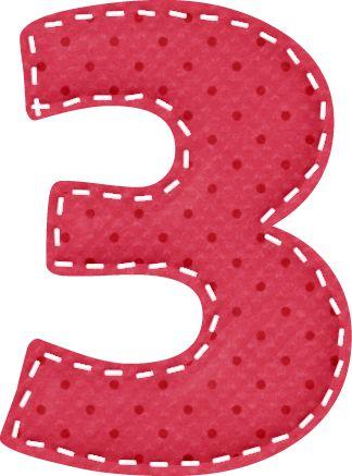 3 clipart polka dot.  best number images