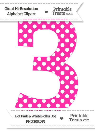 Number clip art library. 3 clipart polka dot