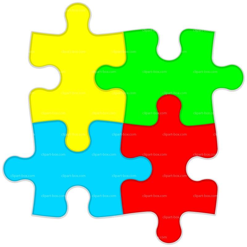 3 clipart puzzle. Station