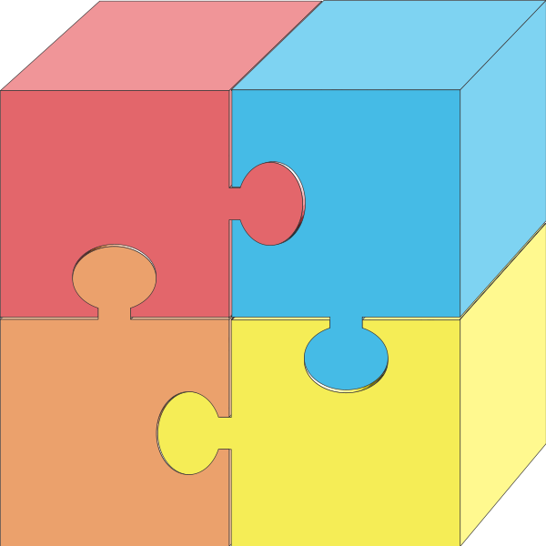Pieces svg vector panda. 3 clipart puzzle