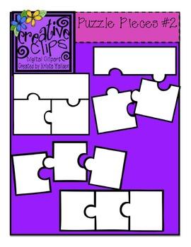 3 clipart puzzle. Free piece templates creative