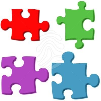 3 clipart puzzle.  d clipartix