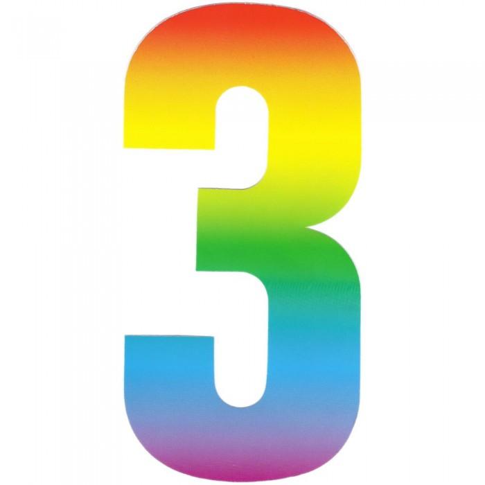 Wheelie bin numbers . 3 clipart rainbow