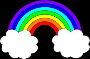 3 clipart rainbow. Free clip art download