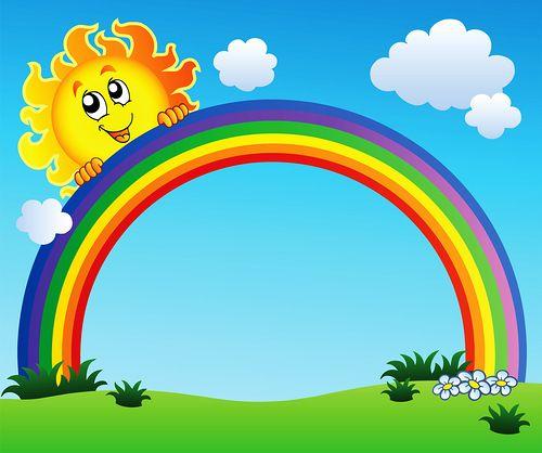 3 clipart rainbow. Vector jpg pinterest