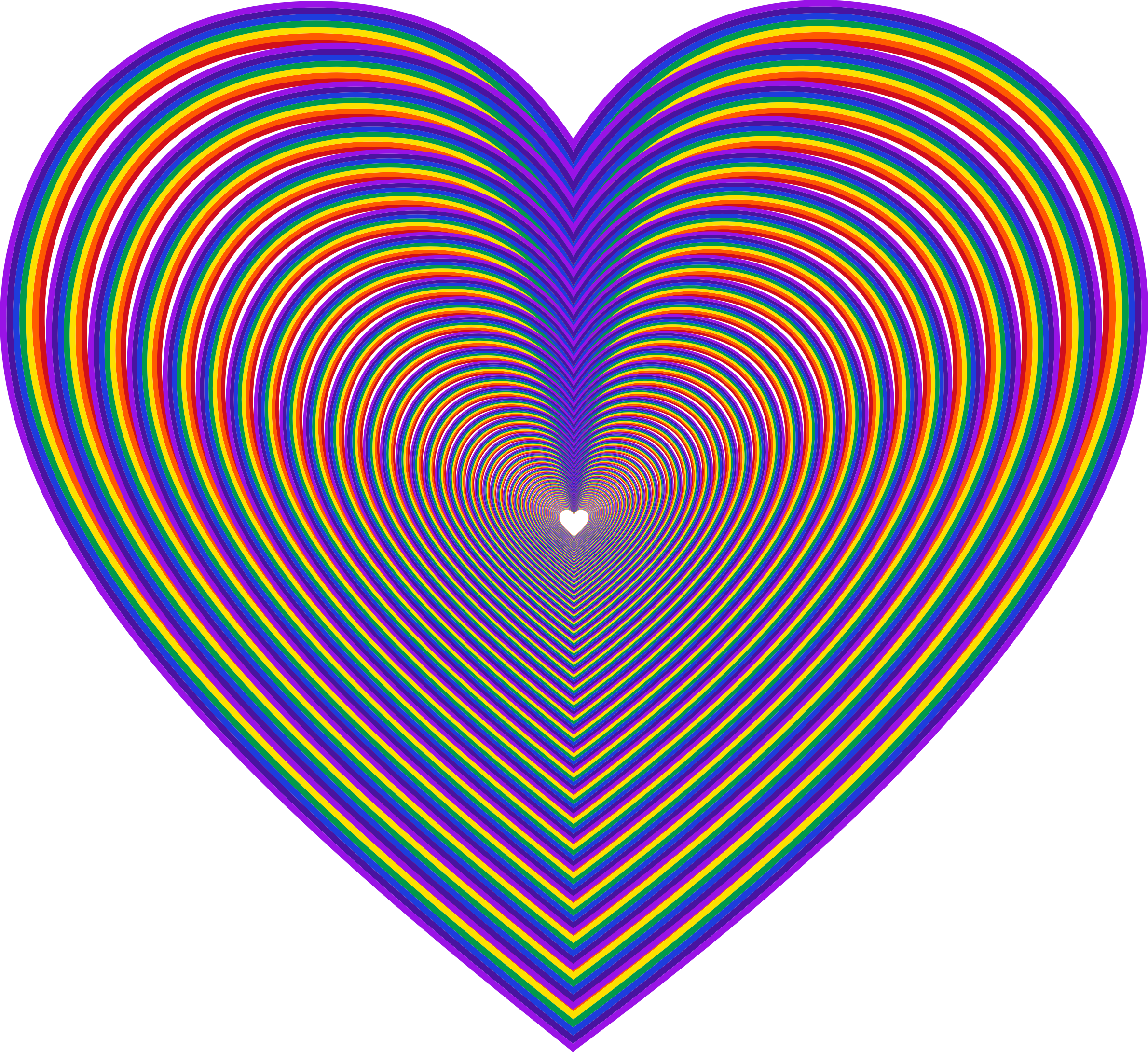 Heart big image png. 3 clipart rainbow