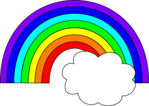 And clouds station . 3 clipart rainbow