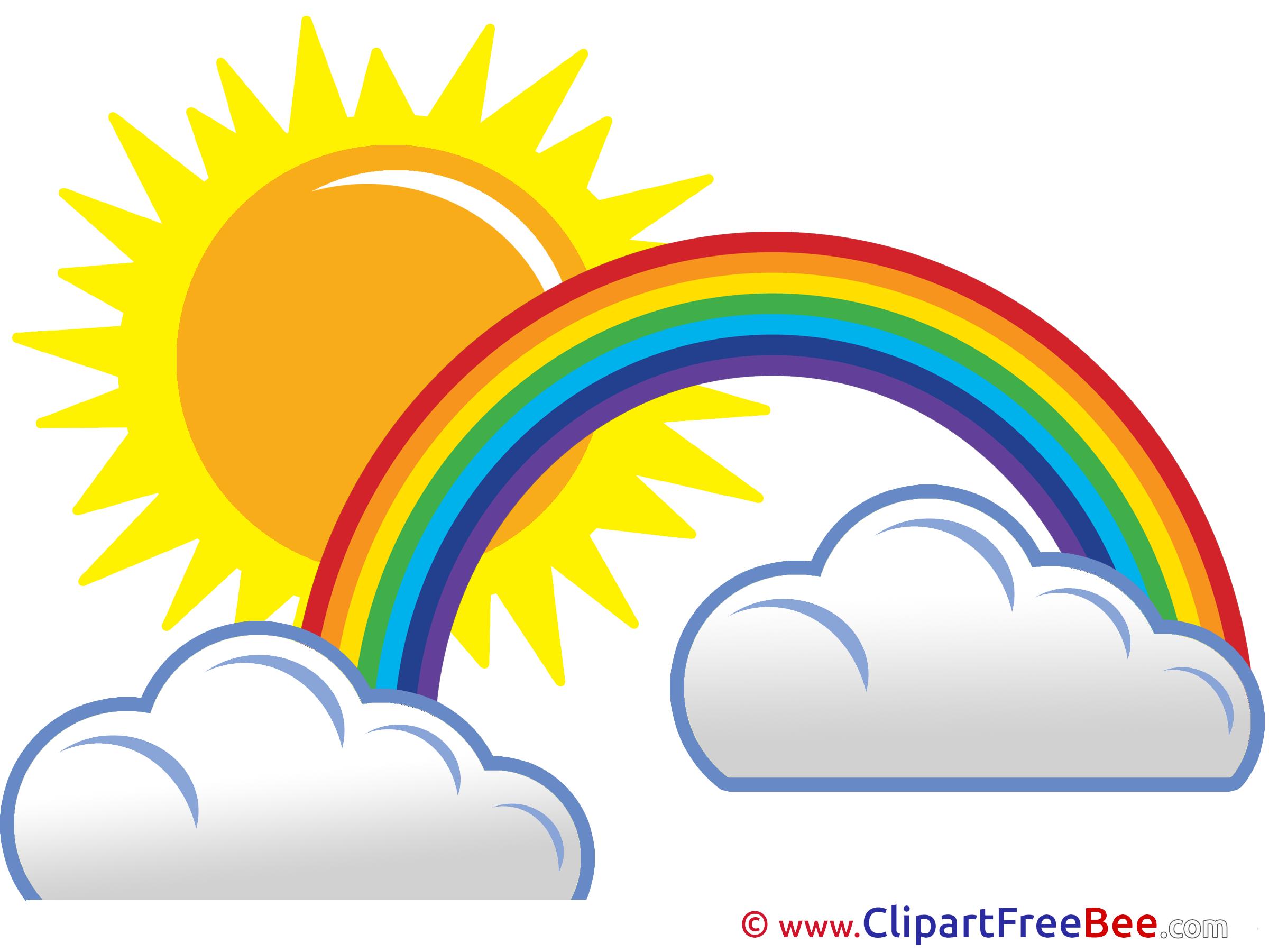 Sun and station . 3 clipart rainbow