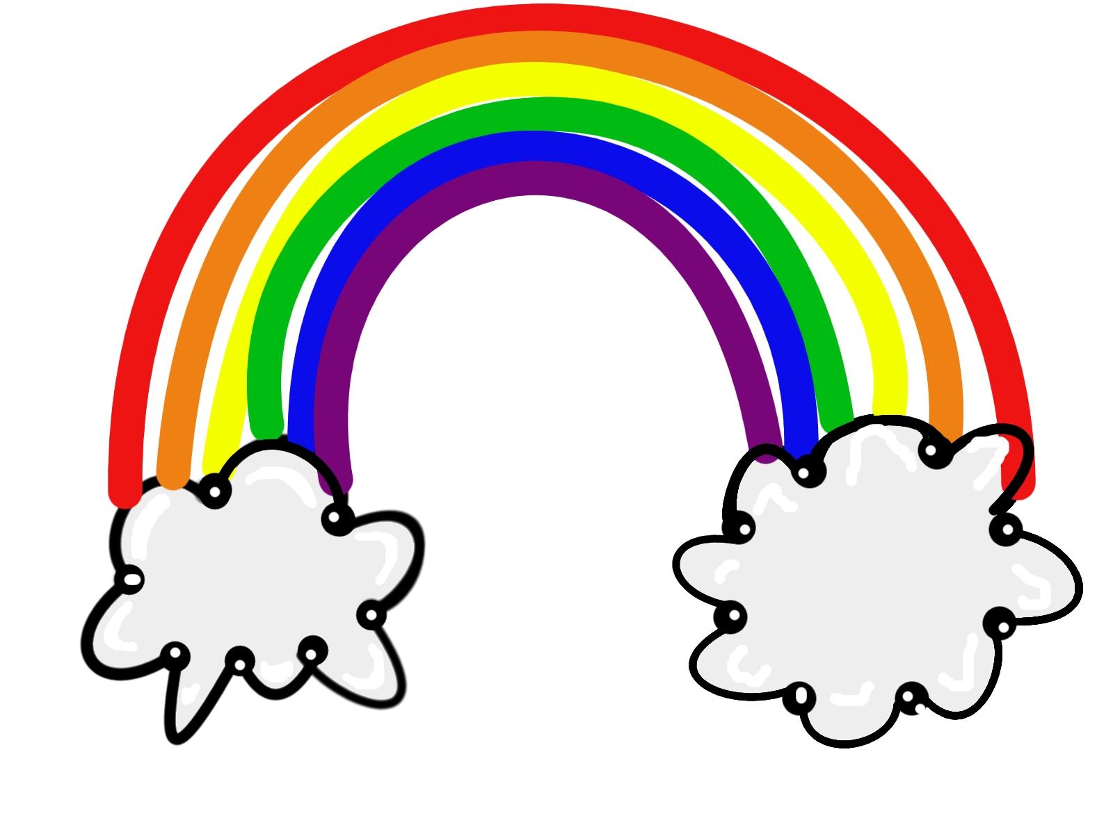 3 clipart rainbow. Unique design digital collection