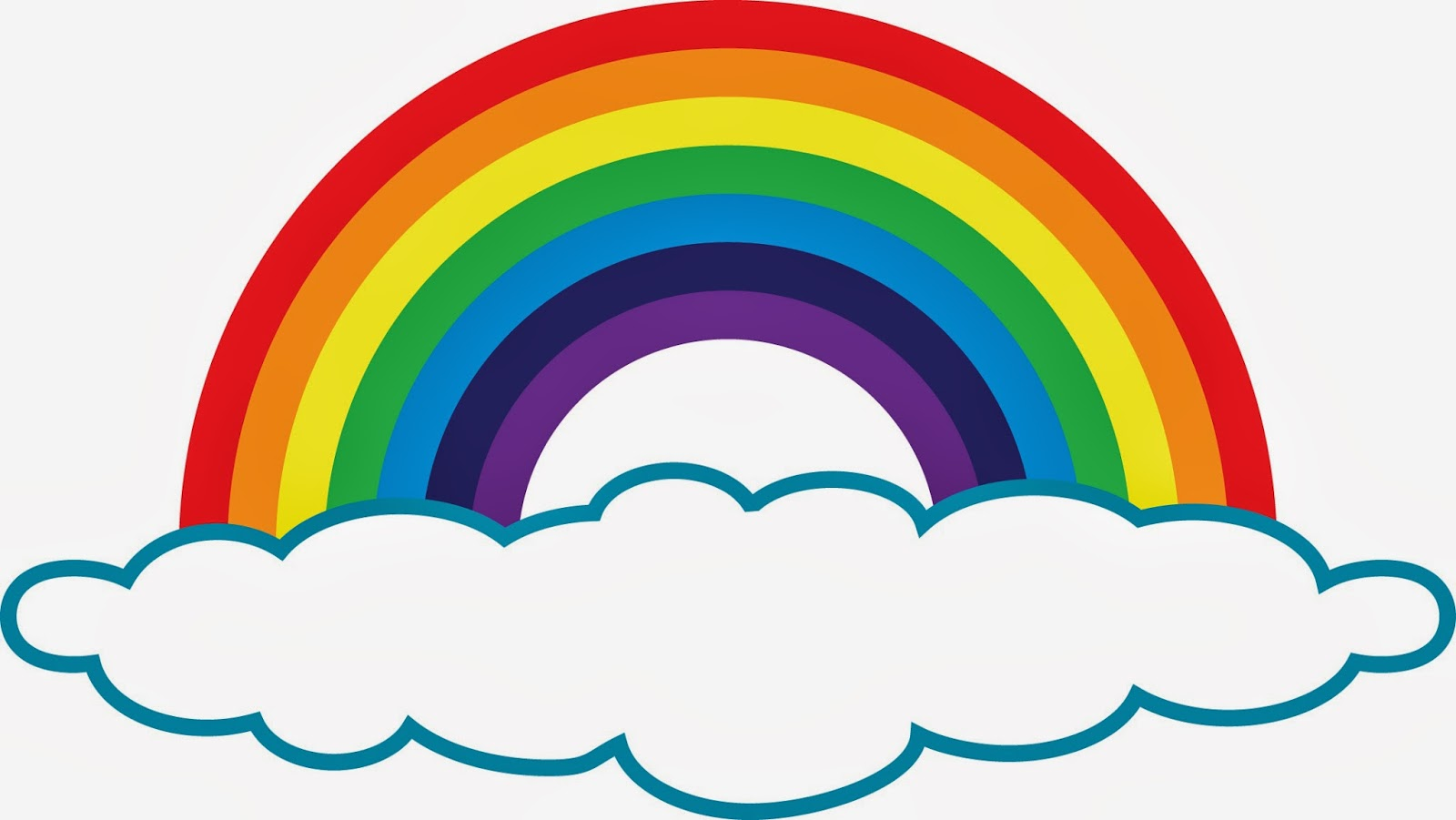 Black and white outline. 3 clipart rainbow
