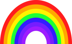 3 clipart rainbow. Clip art free images