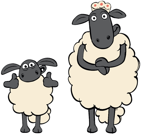3 clipart sheep. Shaun the pencil and