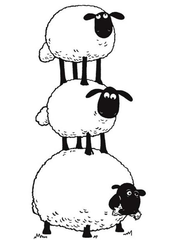 3 clipart sheep. The flock make stack