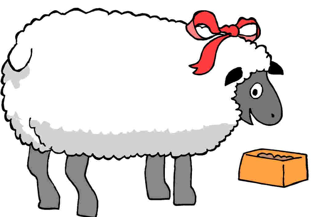 Lamb clipart big sheep. Black and white free