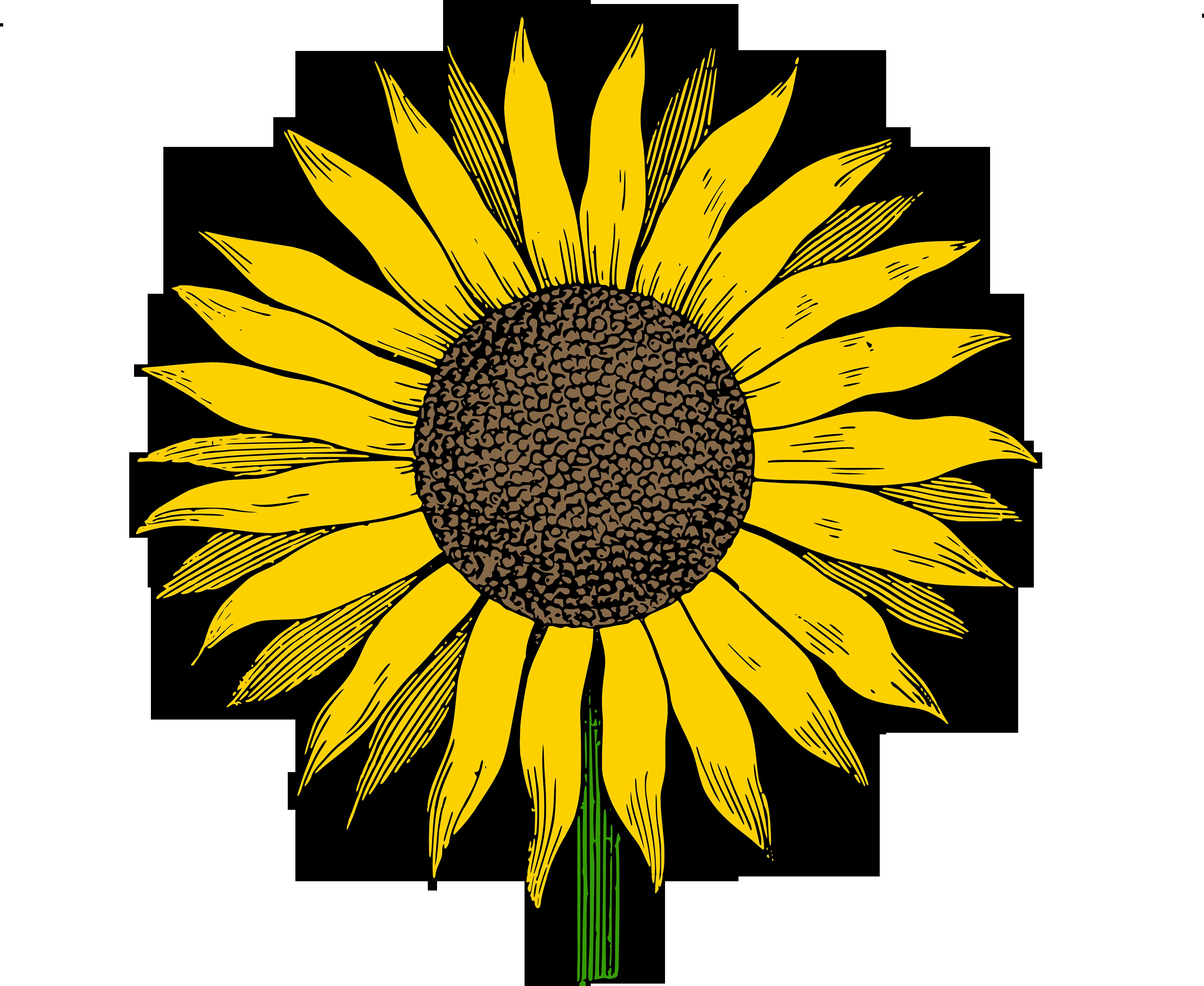3 clipart sunflower. Winsome free paper crafts