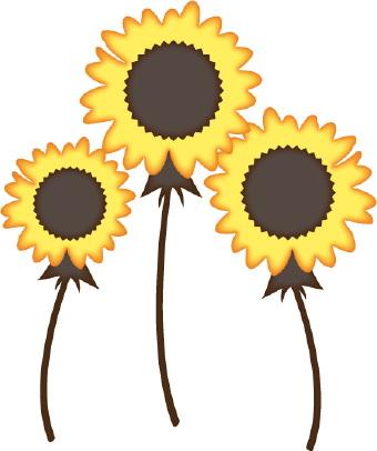 Free flower clip art. 3 clipart sunflower