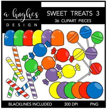 3 clipart sweet. Treats a hughes design
