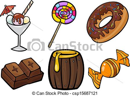 3 clipart sweet. Food station