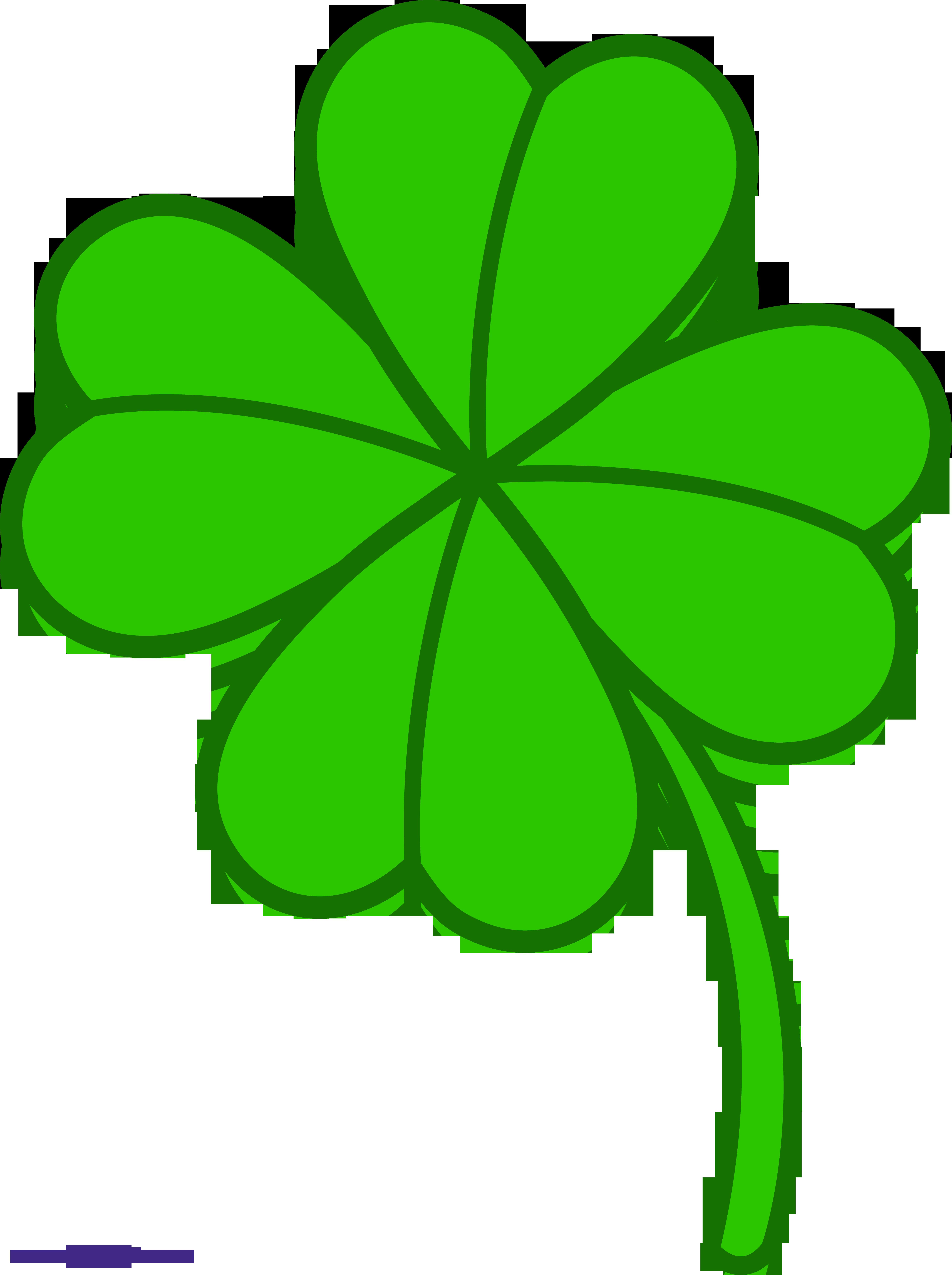 Four leaf clover clip. 3 clipart sweet