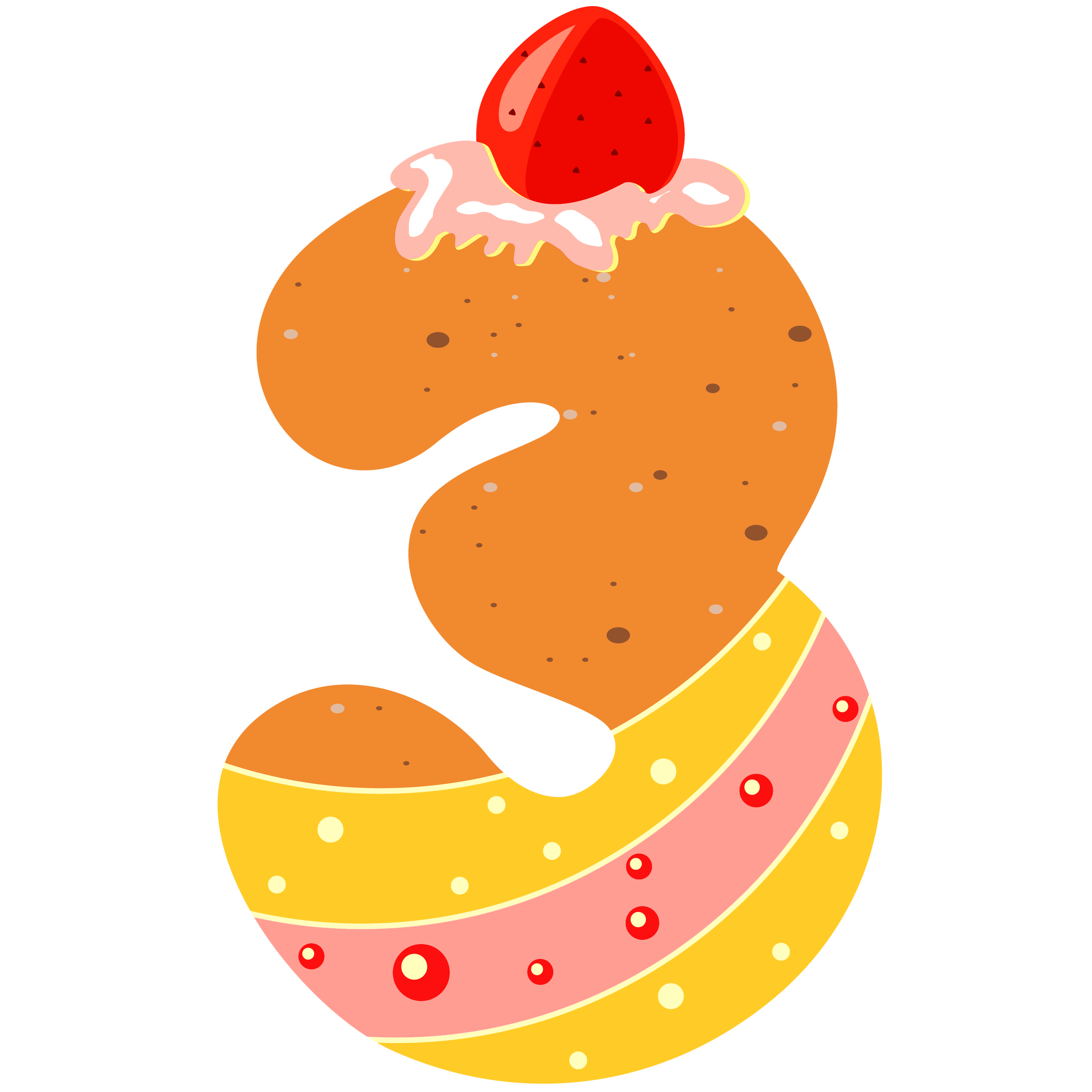 3 clipart sweet. Number three png image