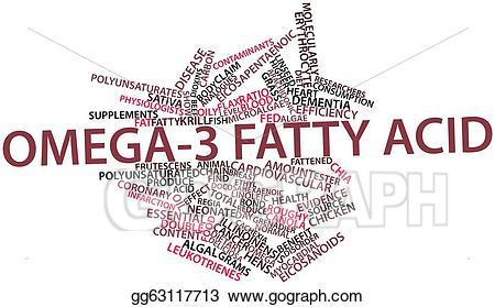 3 clipart term. Stock illustration omega fatty