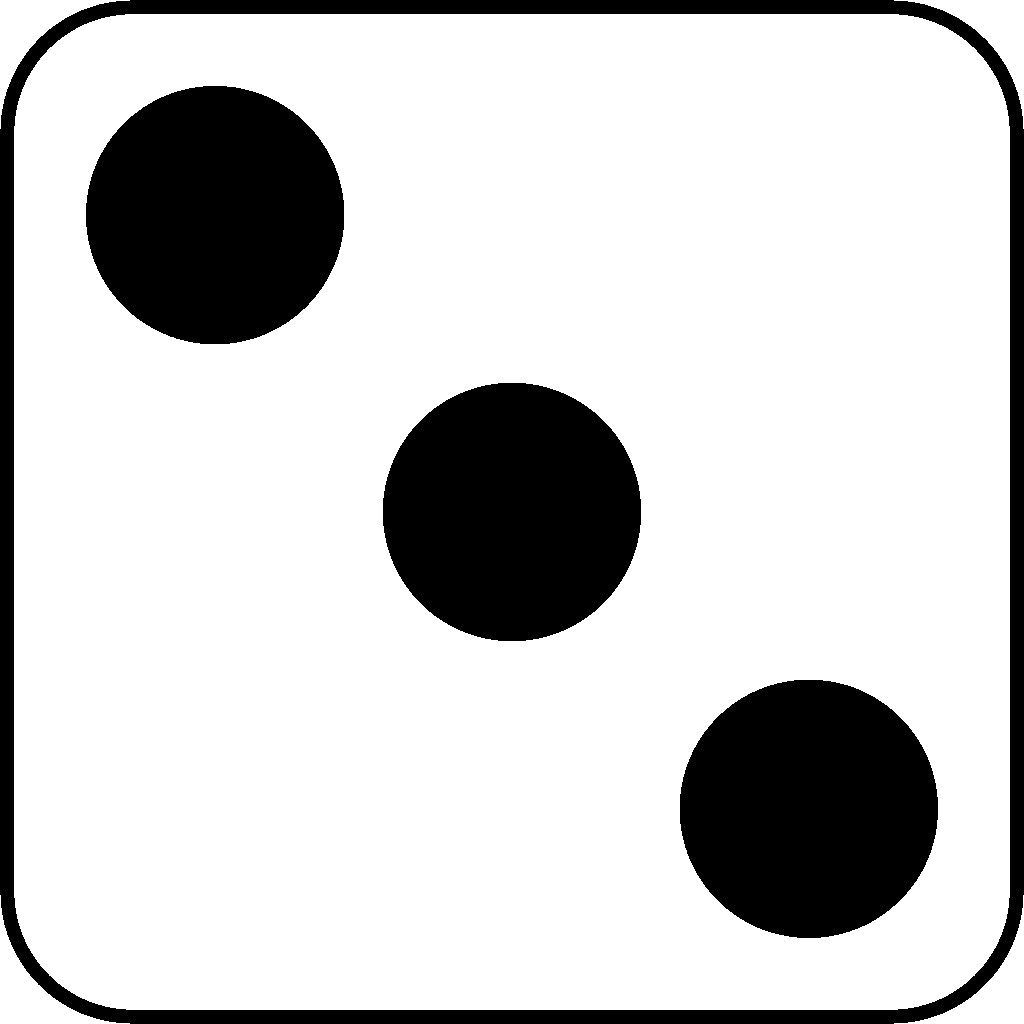 3 clipart three. Dice pencil and in
