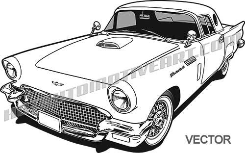 3 clipart thunderbird.  ford vector clip