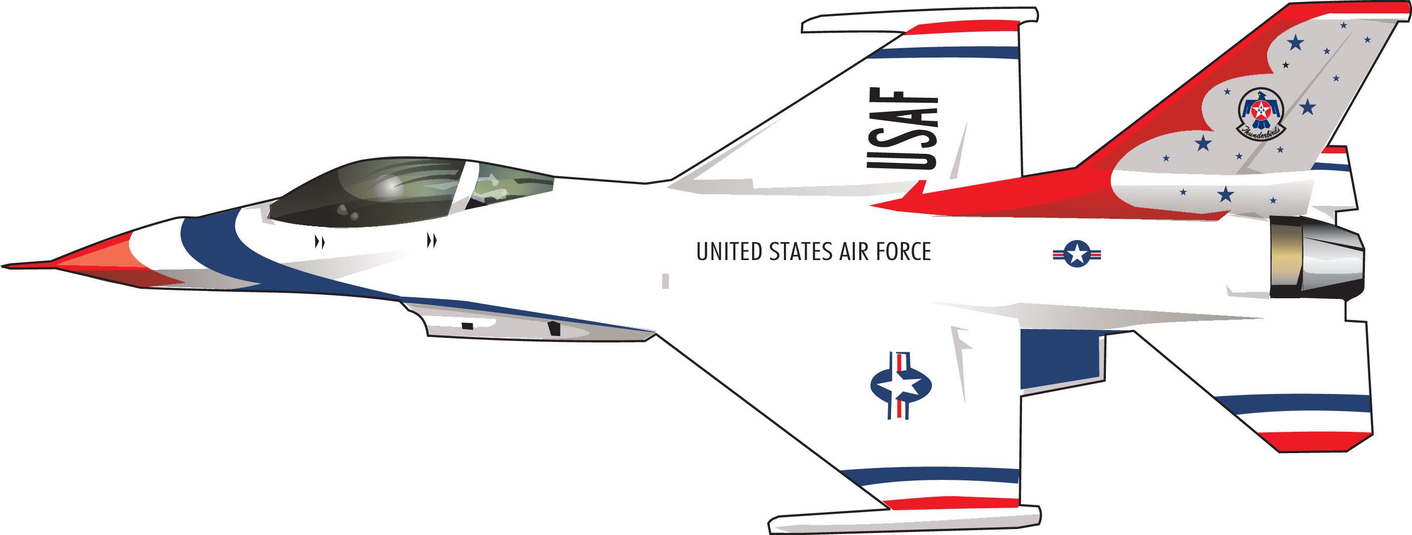 Art f fighting falcon. 3 clipart thunderbird
