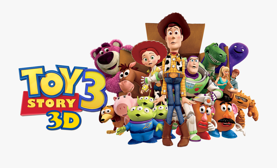 3 clipart toy. Story image characters png
