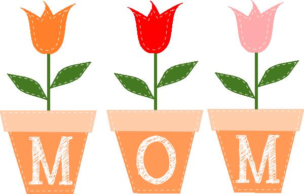 3 clipart tulip. Mom tulips clip art