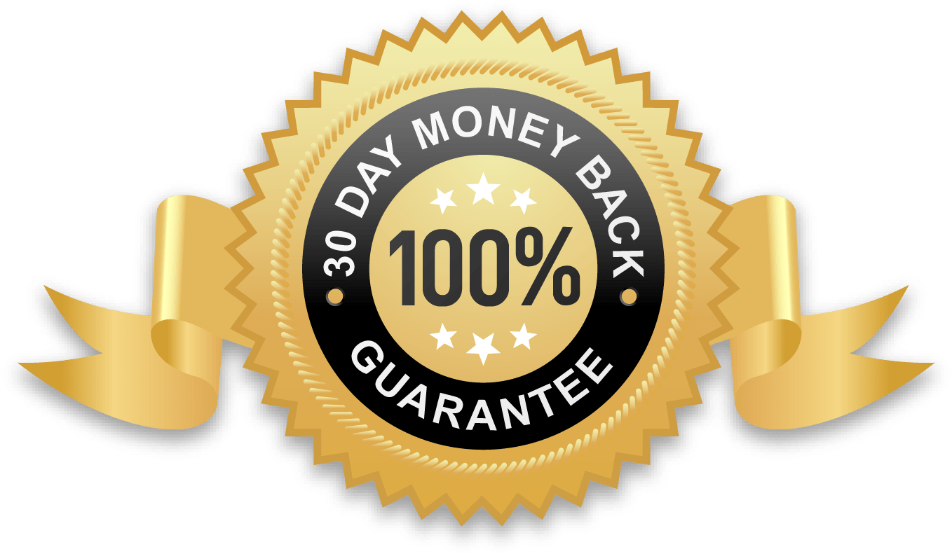Follow the action. 30 day money back guarantee png
