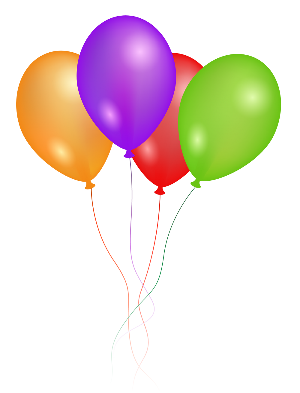 4 clipart balloon. Free png transparent background