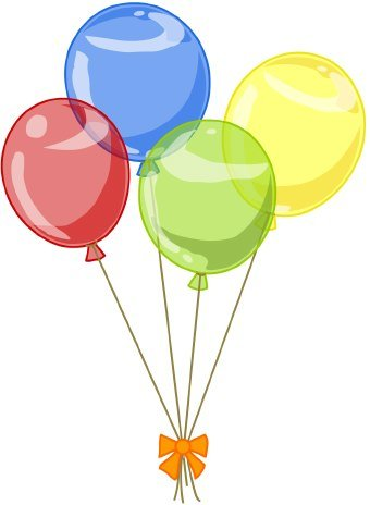 4 clipart balloon. Birthday balloons station