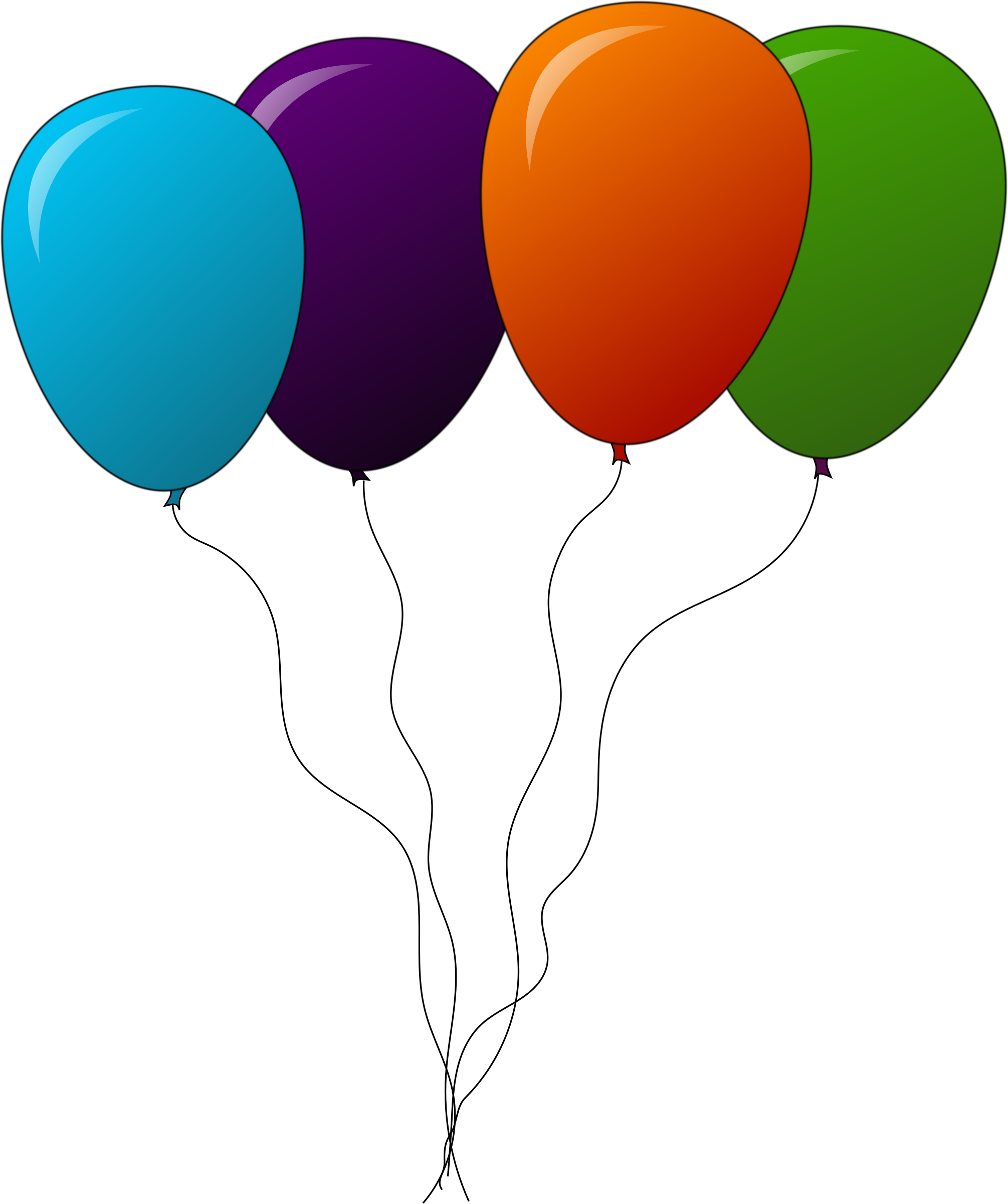 4 clipart balloon. Colored balloons big image
