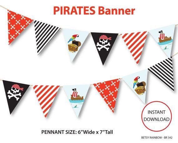 Geburtstagsfeier ideen pinterest . Pirate clipart banner