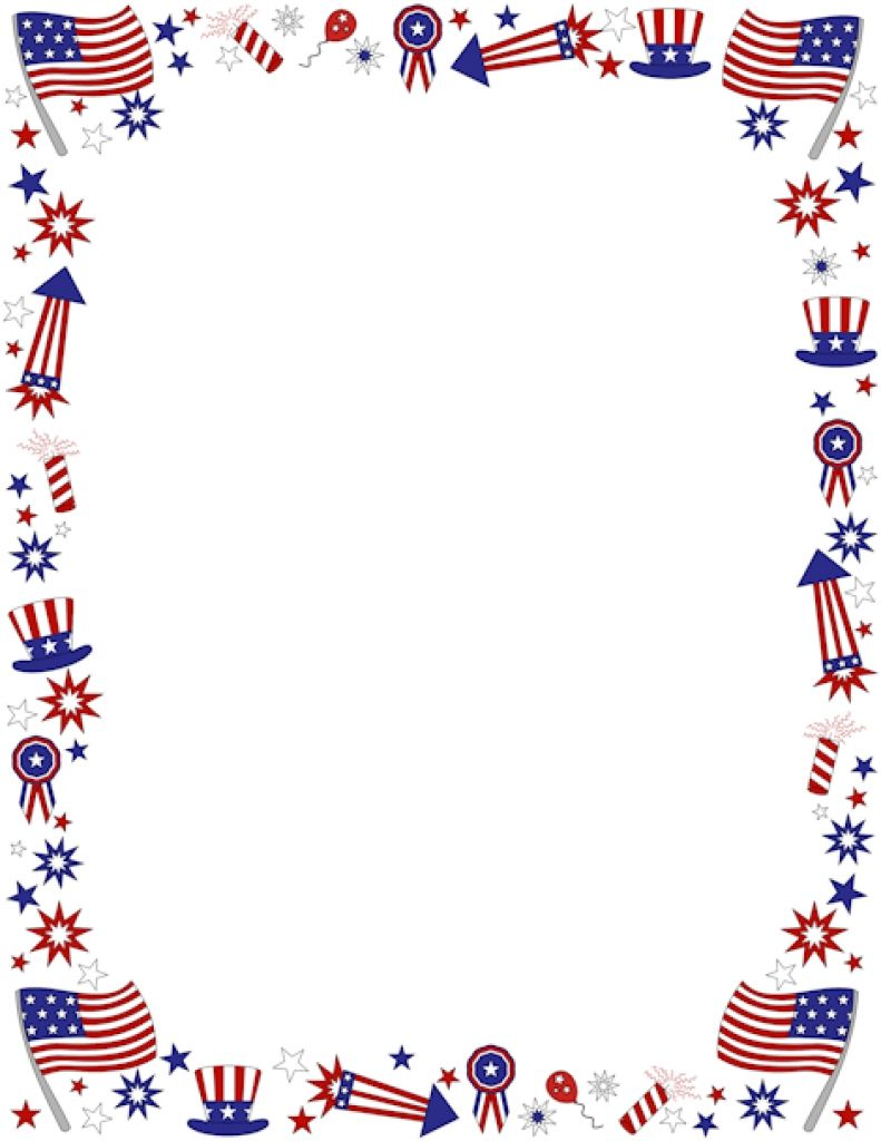 4 clipart banner. Th of july borders