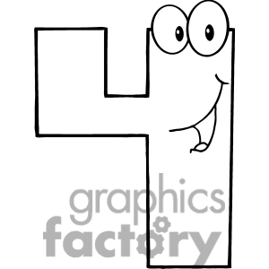 4 clipart black and white
