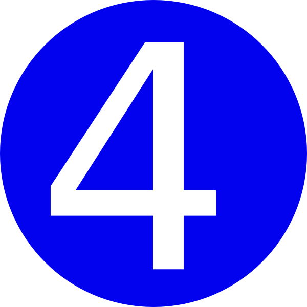 Rounded with clip art. Number clipart blue