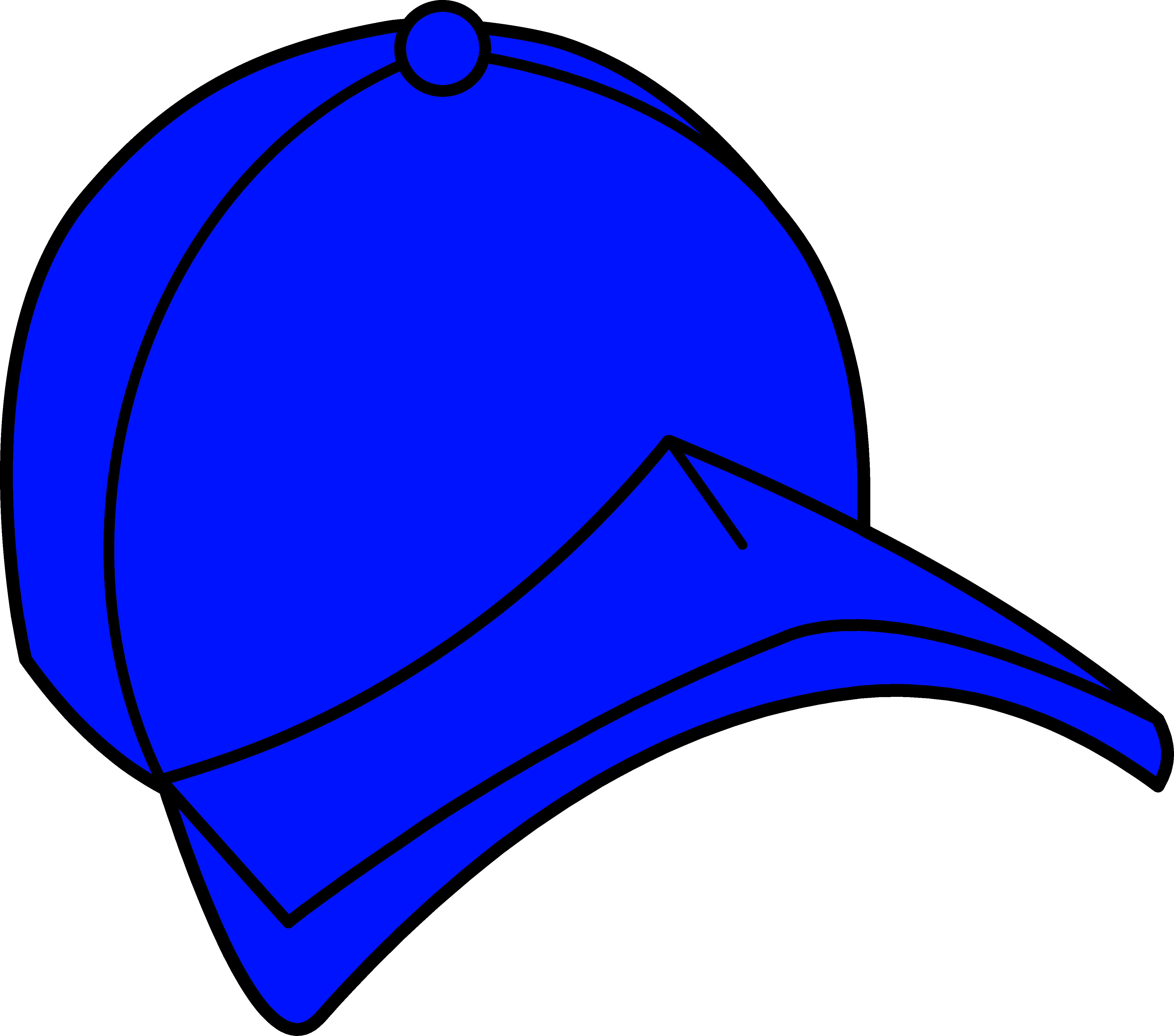 Blue objects station . Hats clipart dodger